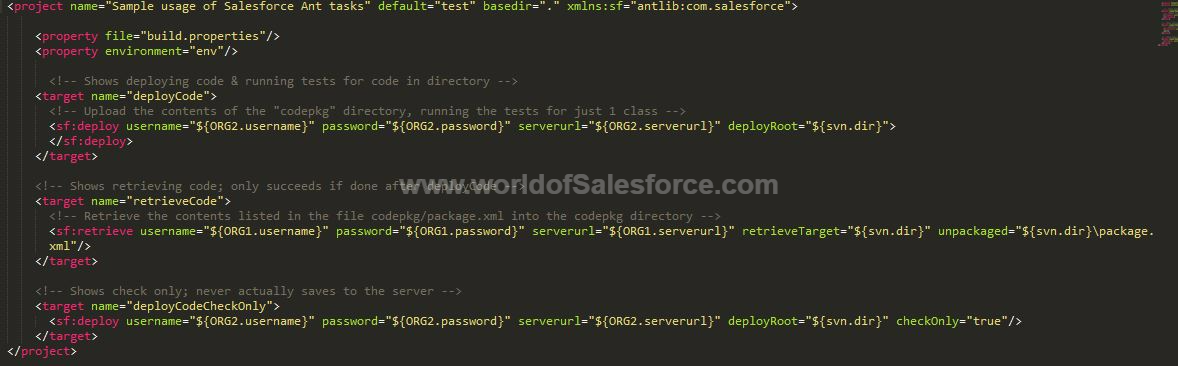 Using ANT Migration Tool for Deployment-Salesforce - World