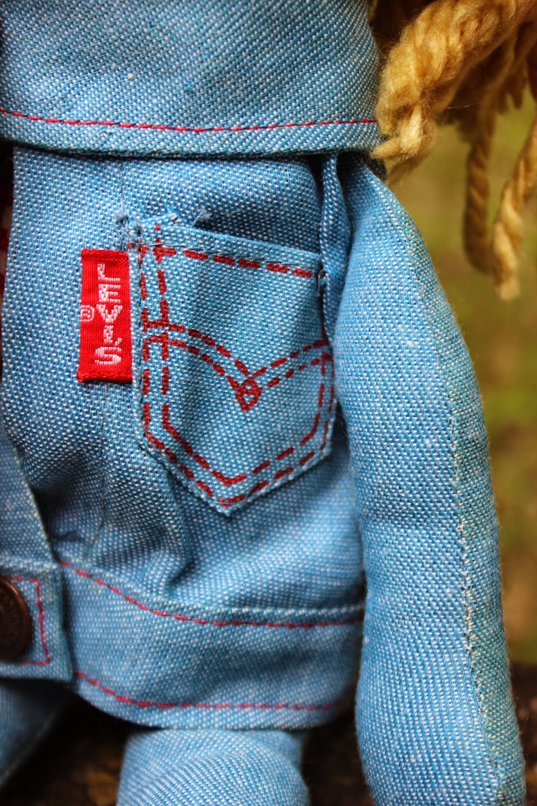 Coolant Leak Repair Cost >> PLANET OF THE DOLLS: Doll-A-Day 176: Levi's Denim Rag Doll