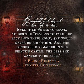 """Grendall had bound her life to his. Even if she were to leave, to beg the Iceviens to take her back to their home, she would never be rid of him. And the longer she remained in the prince's castle, the less she wanted to be free."""