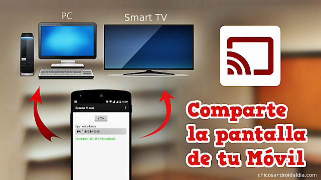 Comparte la pantalla de tu móvil en cualquier ordenador a través del WIFI