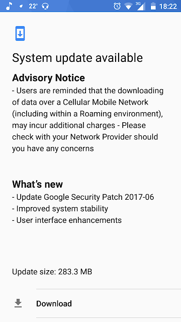 Nokia 5 gets June, 2017 Security patch