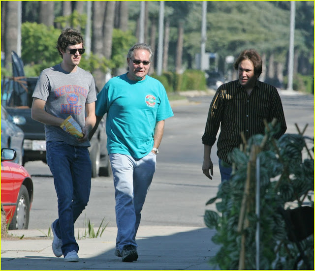adam brody and his dad mark walking