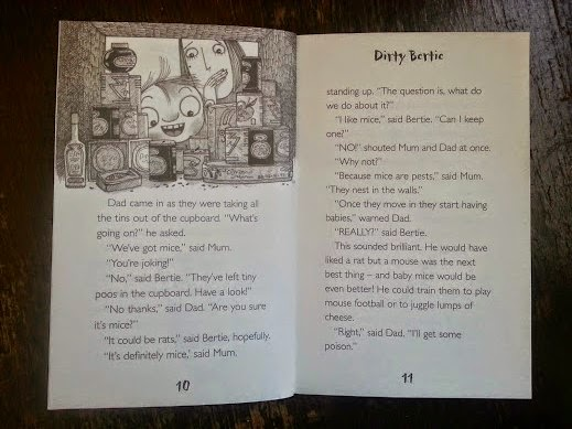 Dirty Bertie: Rats! From the Little Tiger Press review inside page image