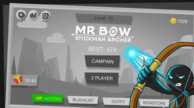 Download Mr Bow Mod Apk V1.12 Terbaru 2019 Unlimited Money & Characters Unlocked