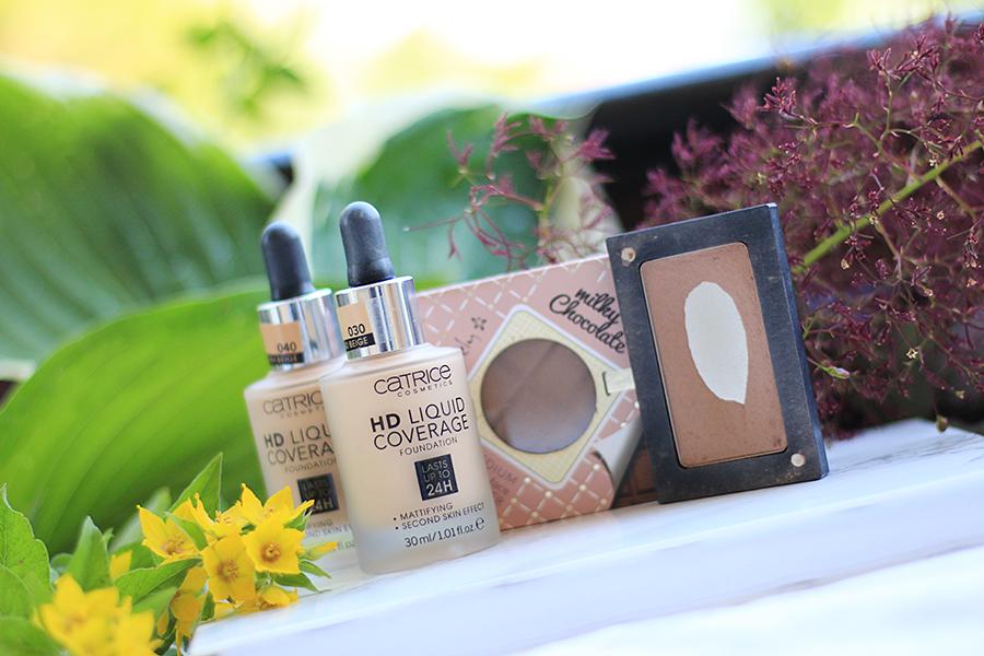 Ulubieńcy miesiąca | Czerwcowe hity kosmetyczne - podkład Catrice HD Liquid Coverage, bronzer Inglot 505, Milky Chocolate Lovely