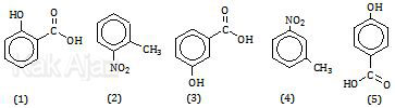 Rumus struktur turunan benzena dengan dua gugus fungsi atau 2 substituen, cabang, UN Kimia 2016