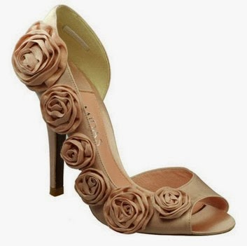 flowery beautiful bridal footwear