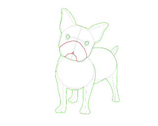 HOW TO DRAW A FrenchBulldog
