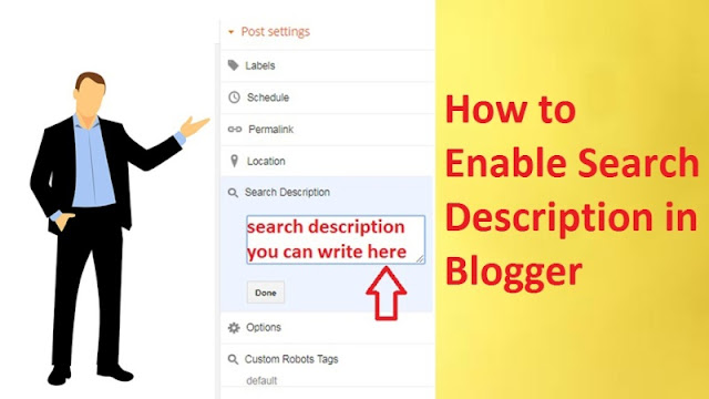 Enable Search Description For Blogger