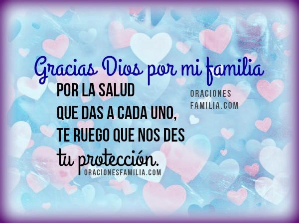 Imágenes bonitas con cortas oraciones cristianas por mi familia, frases cristianas para pedir a Dios que bendiga mi familia por Mery Bracho