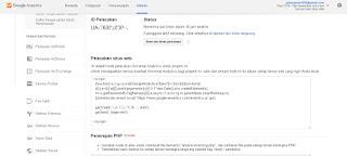 ID pelacakan dan kode google analitycs