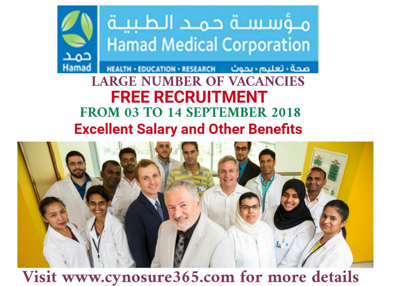 HAMAD MEDICAL CORPORATION QATAR FREE RECRUITMENT - CYNOSURE365
