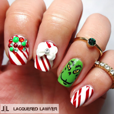Mr. Grinch Nail Art