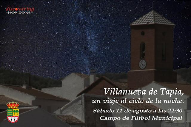 Taller de Astronomía en Villanueva de Tapia