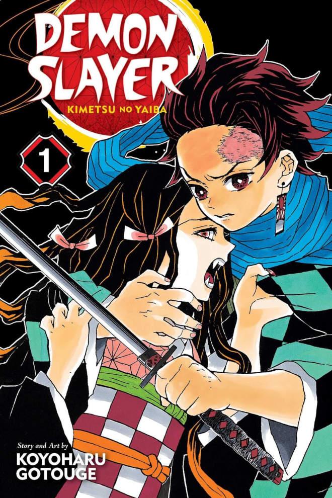 Pierwszy tom mangi Kimetsu no Yaiba