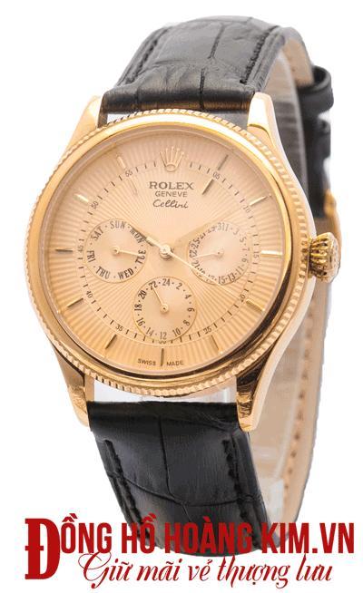 đồng hồ nam rolex dây da giảm giá hàng hiệu