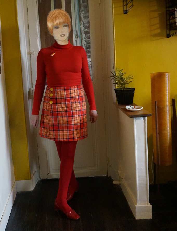 a-line skirt based on Burda 7 5044 pattern vintage 1960s 1970s 60s 70s mod twiggy