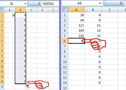 Menghitung Akar Kuadrat di Microsoft Office Excel Cara Praktis Mencari Akar Kuadrat dengan Microsoft Office Excel