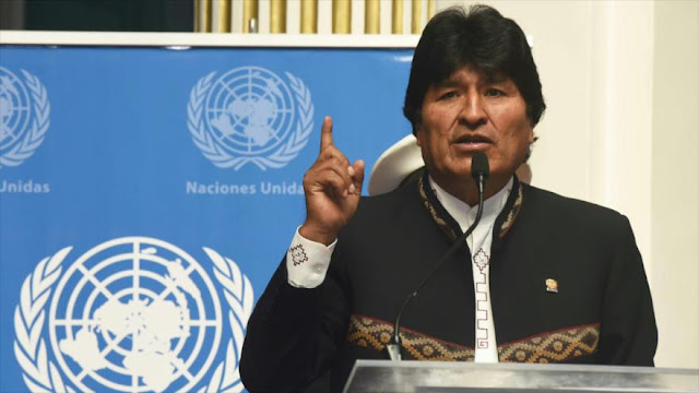 """Morales pide a la ONU tomar """"medidas drásticas"""" contra EEUU"""