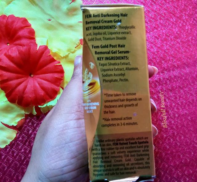 Fem Anti Darkening Hair Removal Cream Gold Review