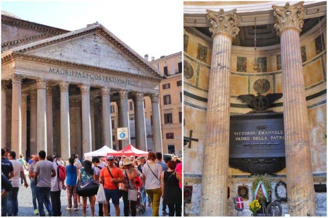 Pantheon en Roma y tumba de Victor Manuel II