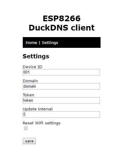 Davide Gironi: Duck DNS ESP8266 mini WiFi client