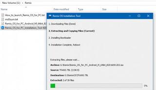 Cara Membuat Dual Boot Windows dan Android Menggunakan Remix OS