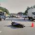 Penunggang motorsikal maut terkena serpihan tayar lori meletup