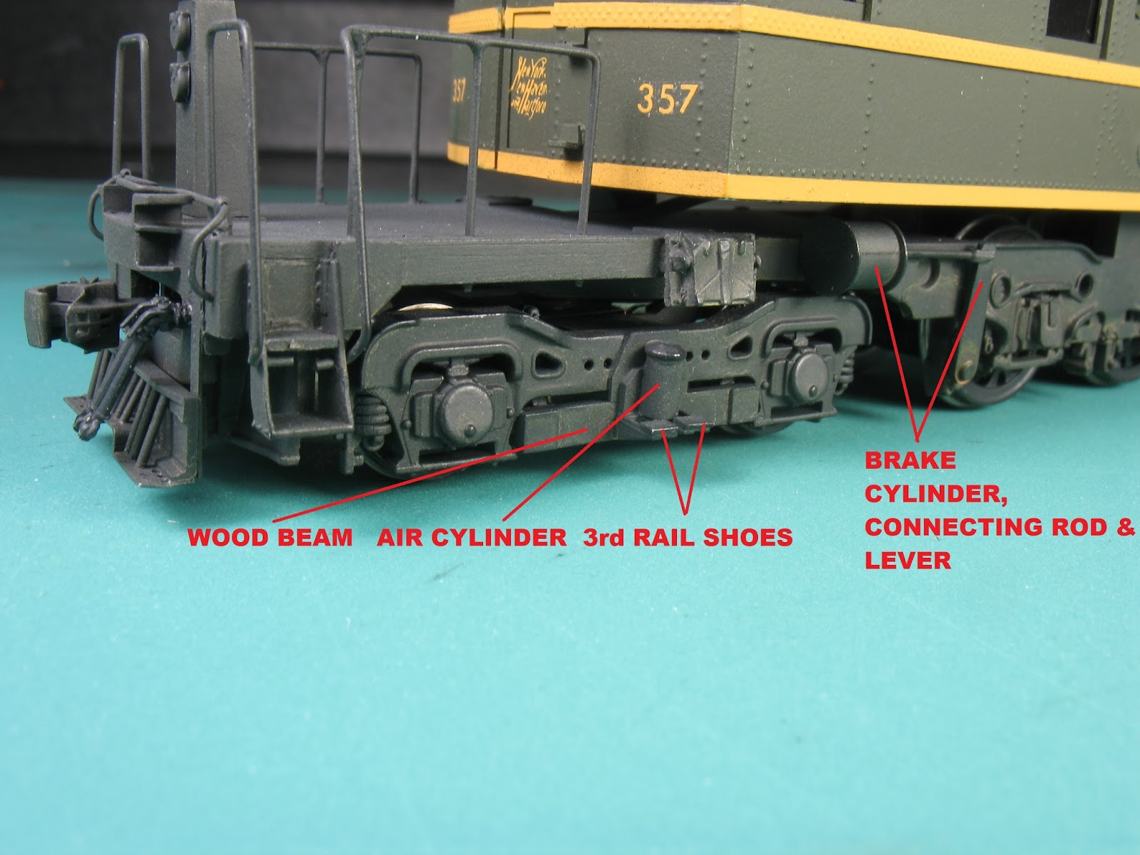 Signal Station 199 Modeling The New Haven Ep 3 Part 2 Train Fuse Box On Pony Truck 3rd Rail Pickup Has Been Added Wood Mounting Beam Air Actuating Cylinder And Pair Of Shoes A Is Mounted Above