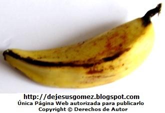Foto del Plátano de la Isla color amarillos con manchas negras