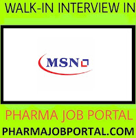 MSN Labs Walk In Drive For M.Sc Freshers at 24 October