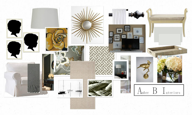 mood board for bedroom remodel with neutral tones