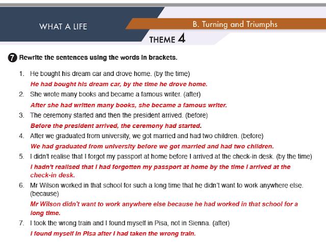 11. Sınıf MEB Yayınları İngilizce Çalışma Kitabı Silver Lining 34. Sayfa Cevapları What A Life