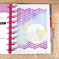 Kim Dellow decorated Happy Planner page DIY