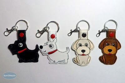 Black or White Scottie, Labradoodle Dog Breed Key Fobs
