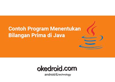 Contoh Program Menentukan Menampilkan Mengecek Mencari  Bilangan Prima di Java