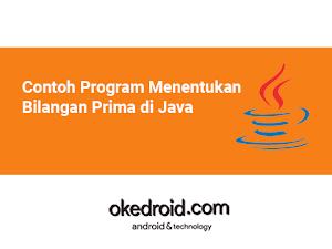 Contoh Program Menentukan Bilangan Prima di Java