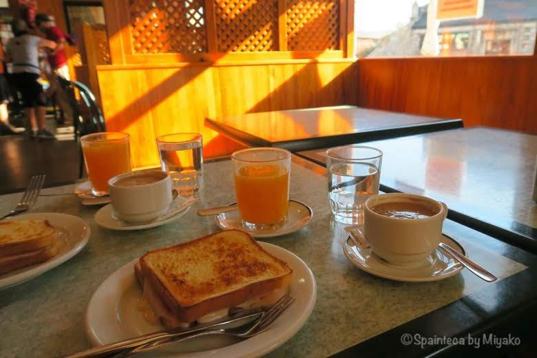 スペインの定番朝ごはん