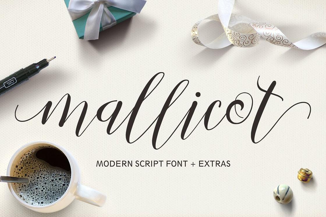 Mallicot calligraphic script font free download free script fonts