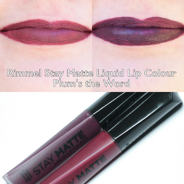 Rimmel Stay Matte Liquid Lip Colour Plum's the Word Swatches and Review