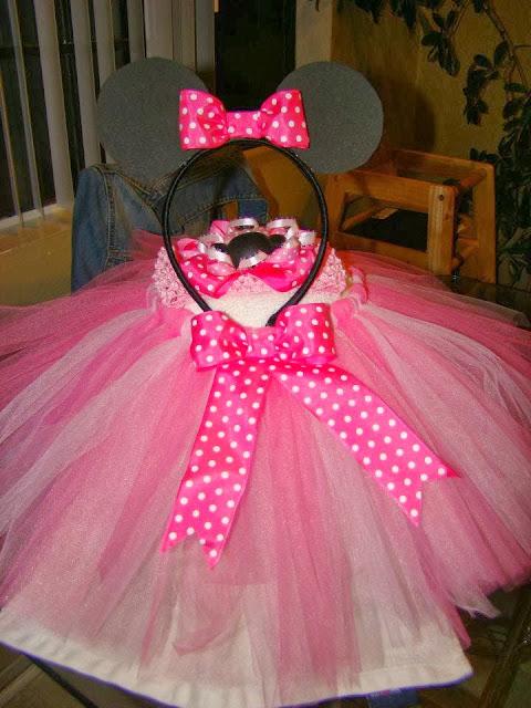 pink dots minnie mouse ears headband
