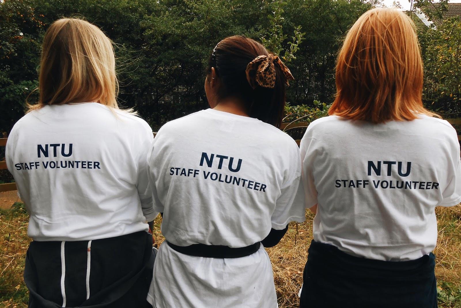 Some of NTU's Staff Volunteers.