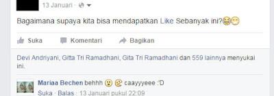 banyak like status facebook