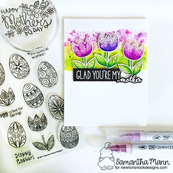 Mother's Day Card by Samantha Mann | Beautiful Spring Stamp Set, Lovely Blooms Stamp Set, and Simply Relative Stamp Set by Newton's Nook Designs #newtonsnook #handmade