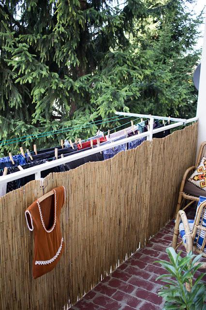 DIY Aufhängung für Wäscheleine am Balkon