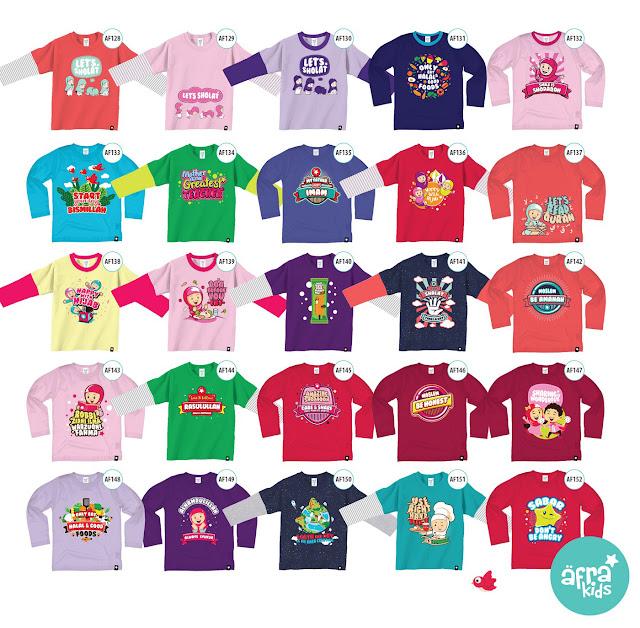 aneka baju anak, afrakids kaos, baju anak islami