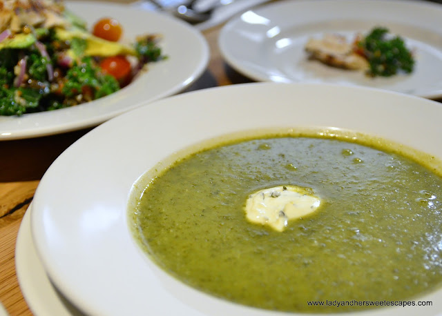 kale soup at Clinton St Baking Co Dubai