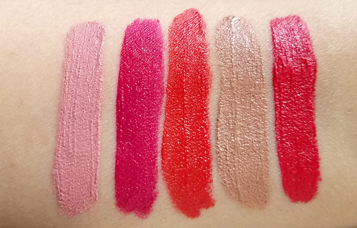 AVON Mark - Liquid Lip Lacquer Matte- Swatches & Review 10 Colours / Farben - Pinking about You - Flushed - Orange You Happy - Whipped Latte - Irresistible  3
