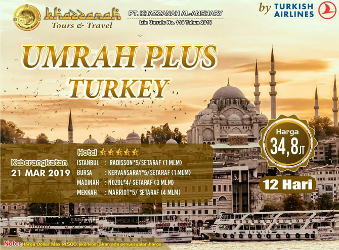 Paket Umroh Maret 2020 Program Plus Turki