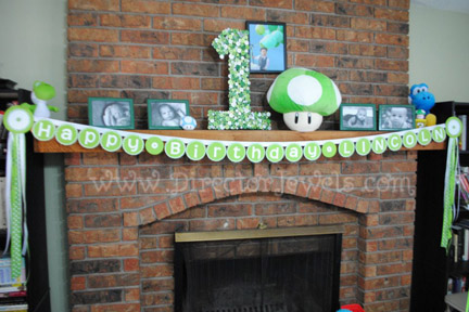 Director Jewels Lincoln S 1st Birthday Nintendo 1 Up Mushroom Party